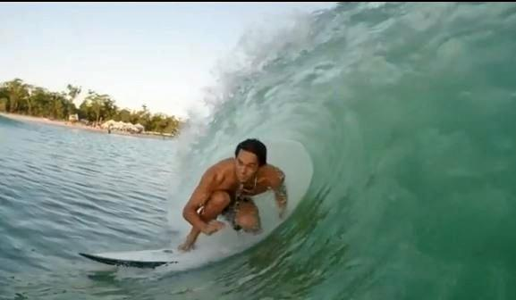 Images from the prototype testing video of Yeppoon's Surf Lakes.