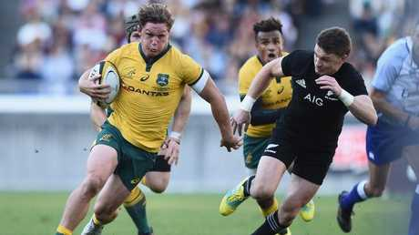 Michael Hooper makes some ground for the Wallabies. Picture: Matt Roberts/Getty Images