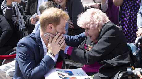 Harry has regularly given Daphne Dunne plenty of his time. Picture: Paul Edwards/Getty Images