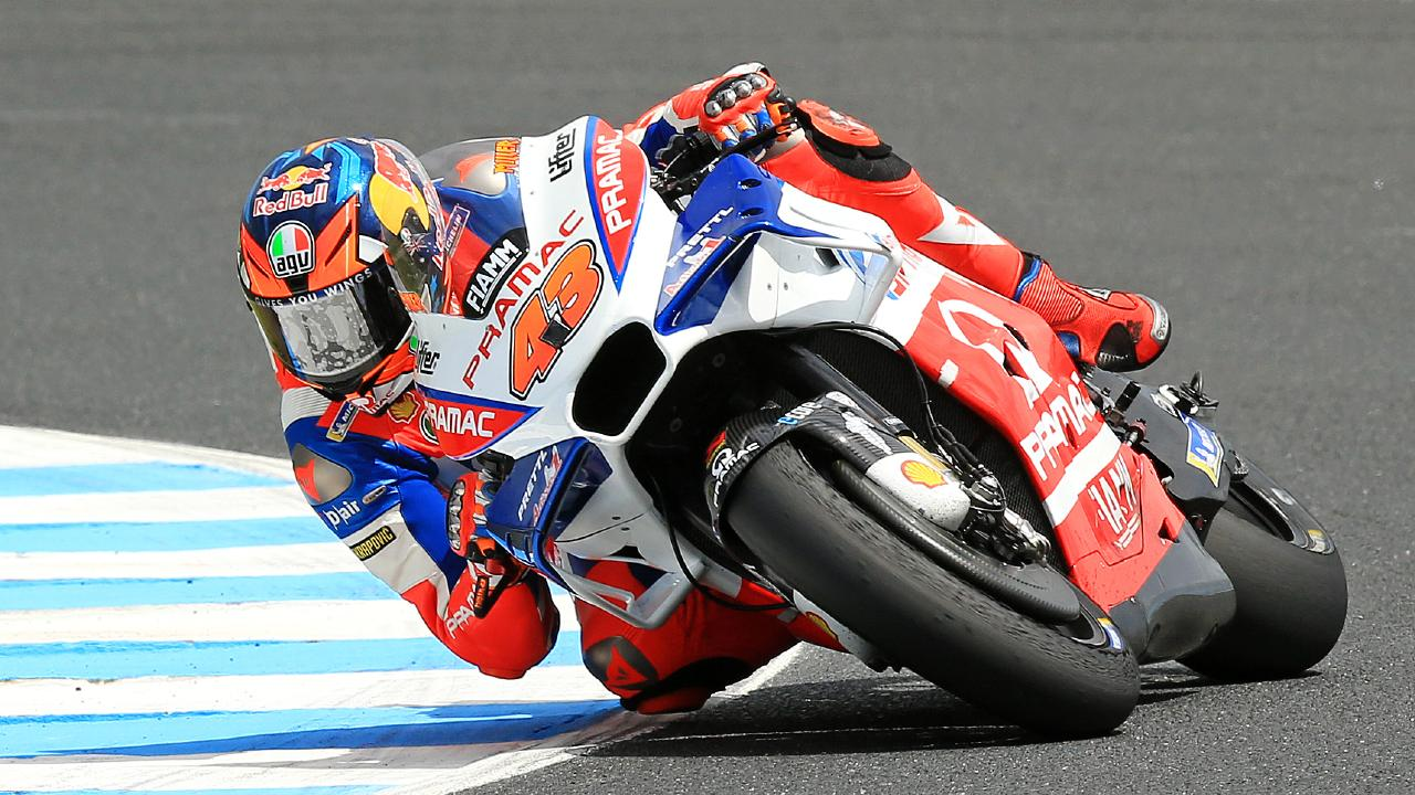 Townsville's Jack Miller in action during free practice. Picture: Mark Stewart
