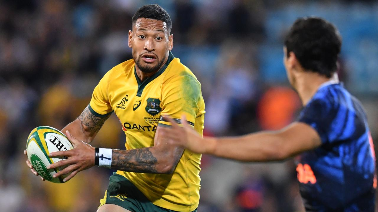Israel Folau will need to adjust to an unfamiliar position.