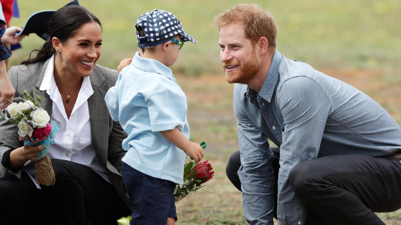 The way Harry and Meghan interacted with little Luke Vincent won them fans around the world. Picture: Matrix Media Group