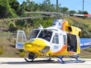Rescue helicopter rushed to truck rollover
