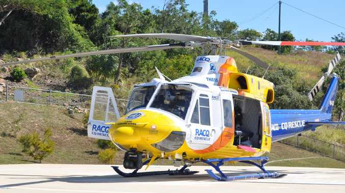 The RACQ CQ Rescue helicopter is on the way to a truck rollover on the Fitzroy Development Rd, 150km southwest of Mackay. Picture: File