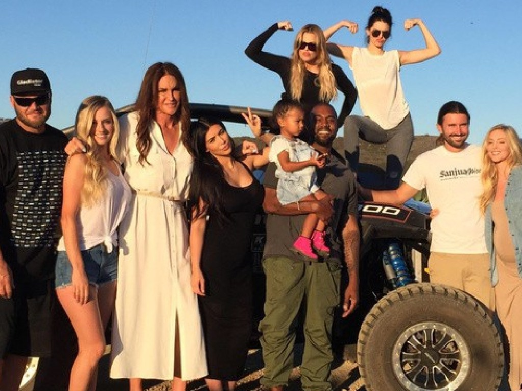 Caitlyn Jenner with her family. Picture: Instagram