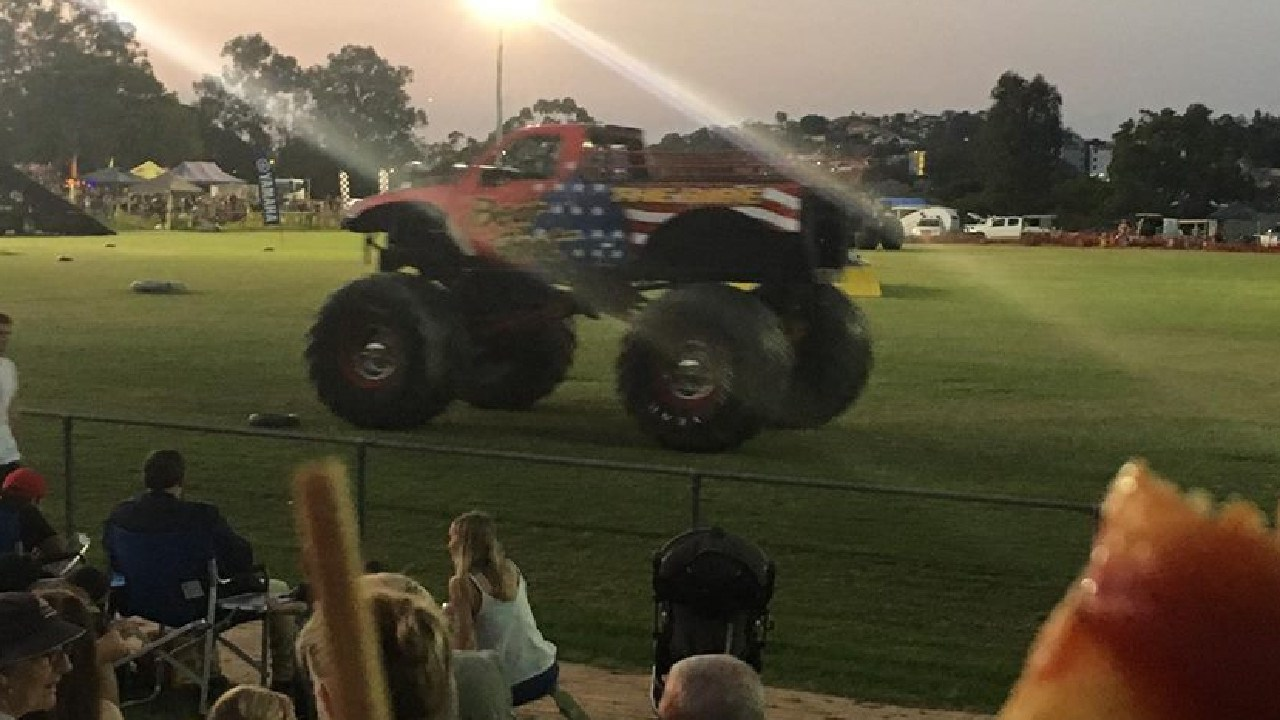 A monster truck at the event earlier in the night. Picture: Facebook