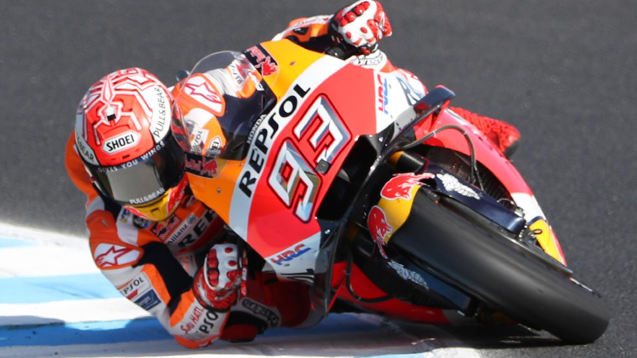 Marc Marquez was the fastest man in qualifying in the third practice session.