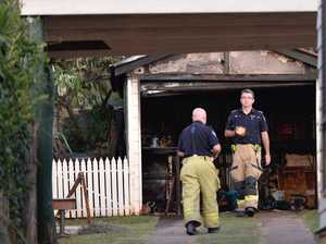 Garden shed destroyed after accidental fire ignition
