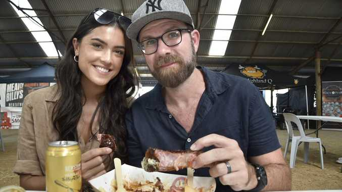 Kip and Amber Wightman. Brews and Barbie Bash at Toowoomba showgrounds. October 2018