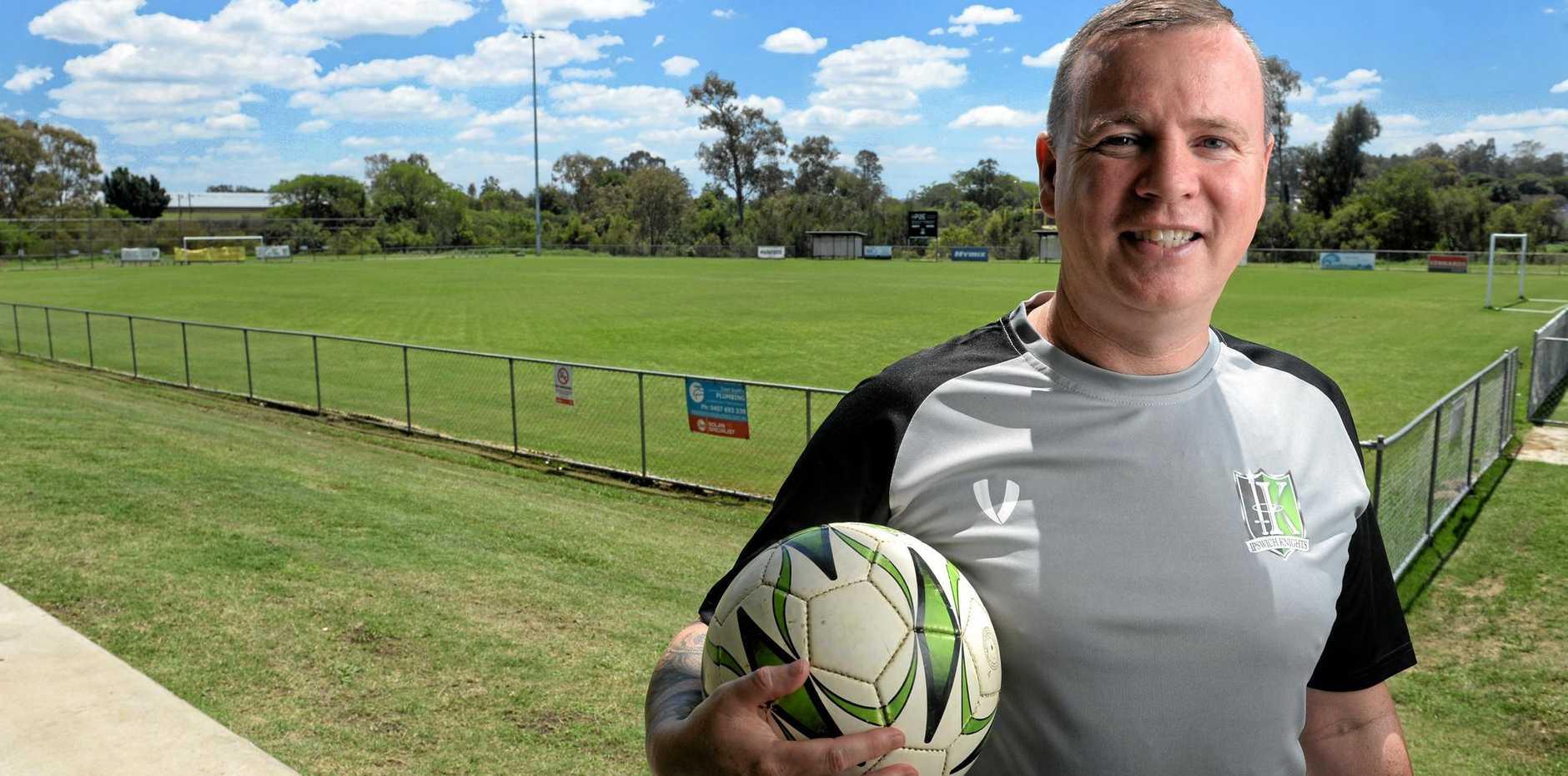 Ipswich Knights new technical director Jason Buchanan is getting down to business at Bundamba.