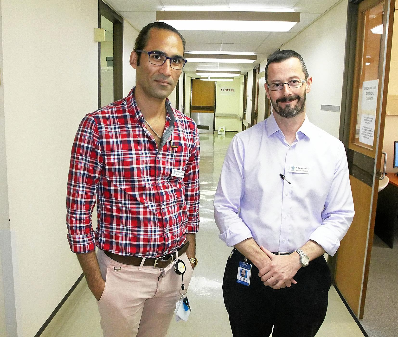 Gladstone Hospital's new clinical directors Dr Tony Eidan and Dr Darren Bowles bring years of experience.