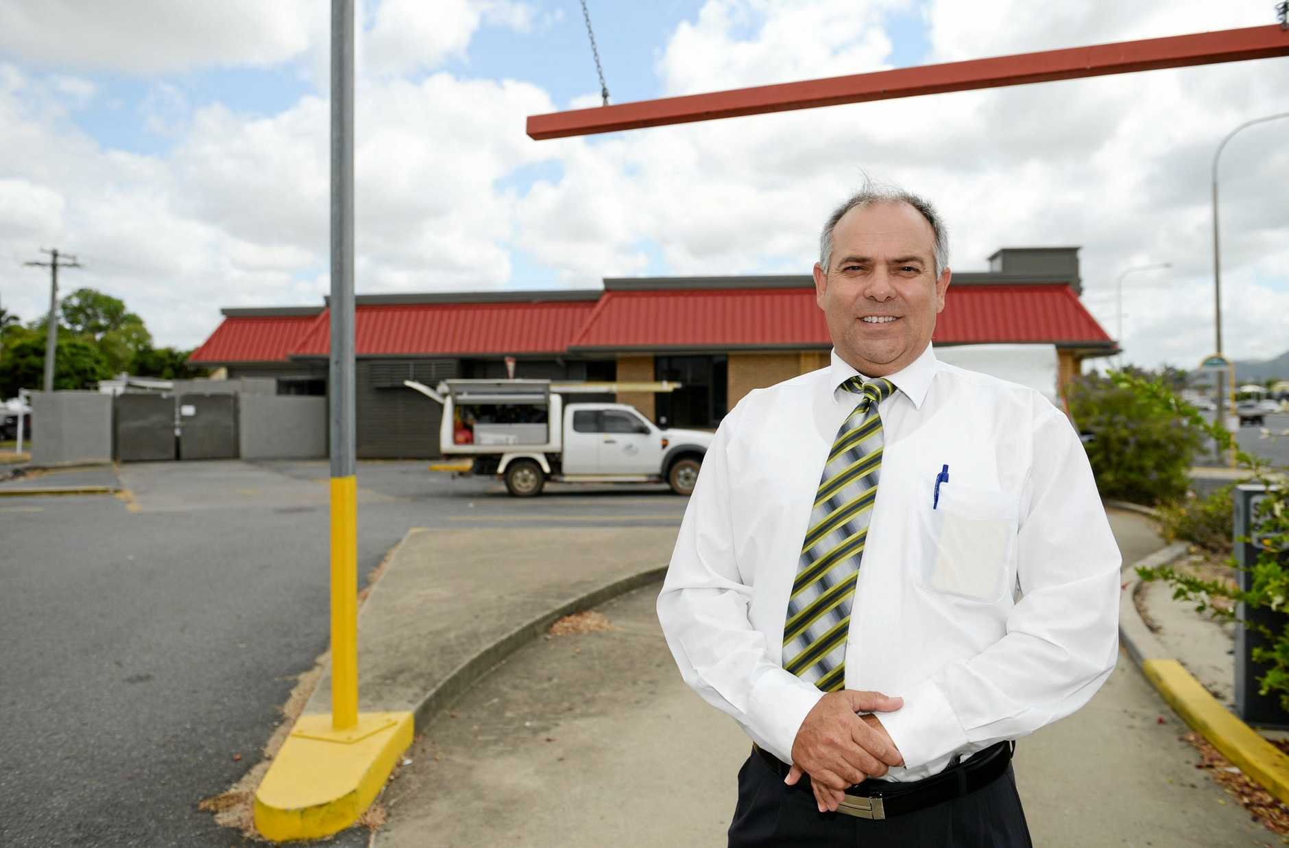 Robin McArthur on the drive thru of the old KFC on Queen Elizabeth Drive that is being turned into a Subway store. Photo Allan Reinikka / The Morning Bulletin