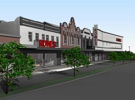 Changes to Russell St as part of the proposed Rowes redevelopment and renovation. Concept plans for the $10 million Rowes renovation and redevelopment on Russell St, Victoria St and Keefe St in the Toowoomba CBD.