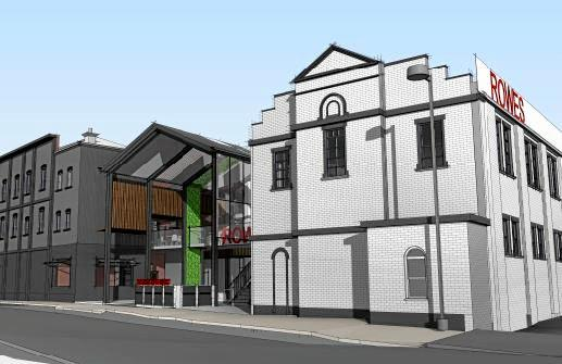 The proposed Victoria St facade, which shows the original two-storey flour mill, as part of the Rowes redevelopment and renovation. Concept plans for the $10 million Rowes renovation and redevelopment on Russell St, Victoria St and Keefe St in the Toowoomba CBD.