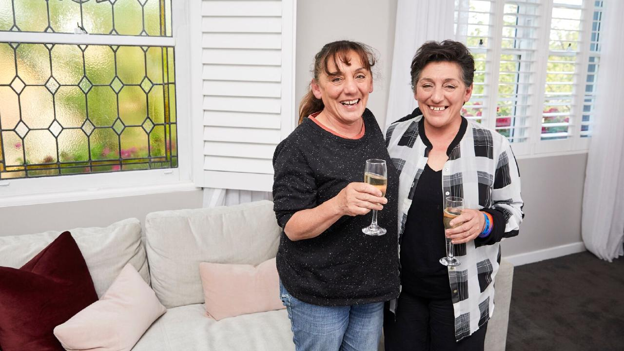Former Gatwick Hotel owners and twin sisters Yvette Kelly and Rose Banks bought back into the property with Courtney and Hans' apartment for $2.770 million. Source: The Block