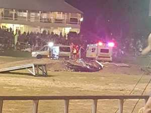 Horror moment stunt car ploughs into crowd
