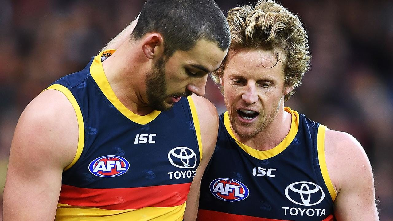 Crows captain Taylor Walker and vice-captain Rory Sloane.
