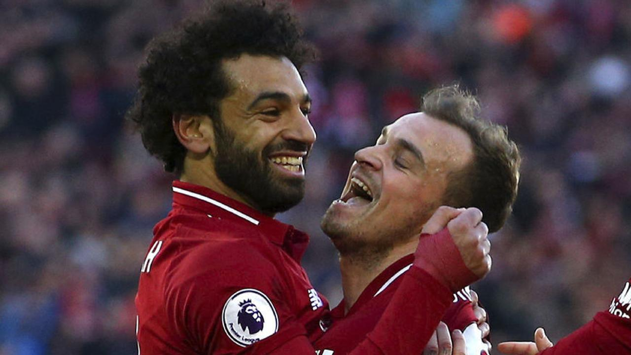 Mohamed Salah and Xherdan Shaqiri olayed a big part in the win. Picture: PA.
