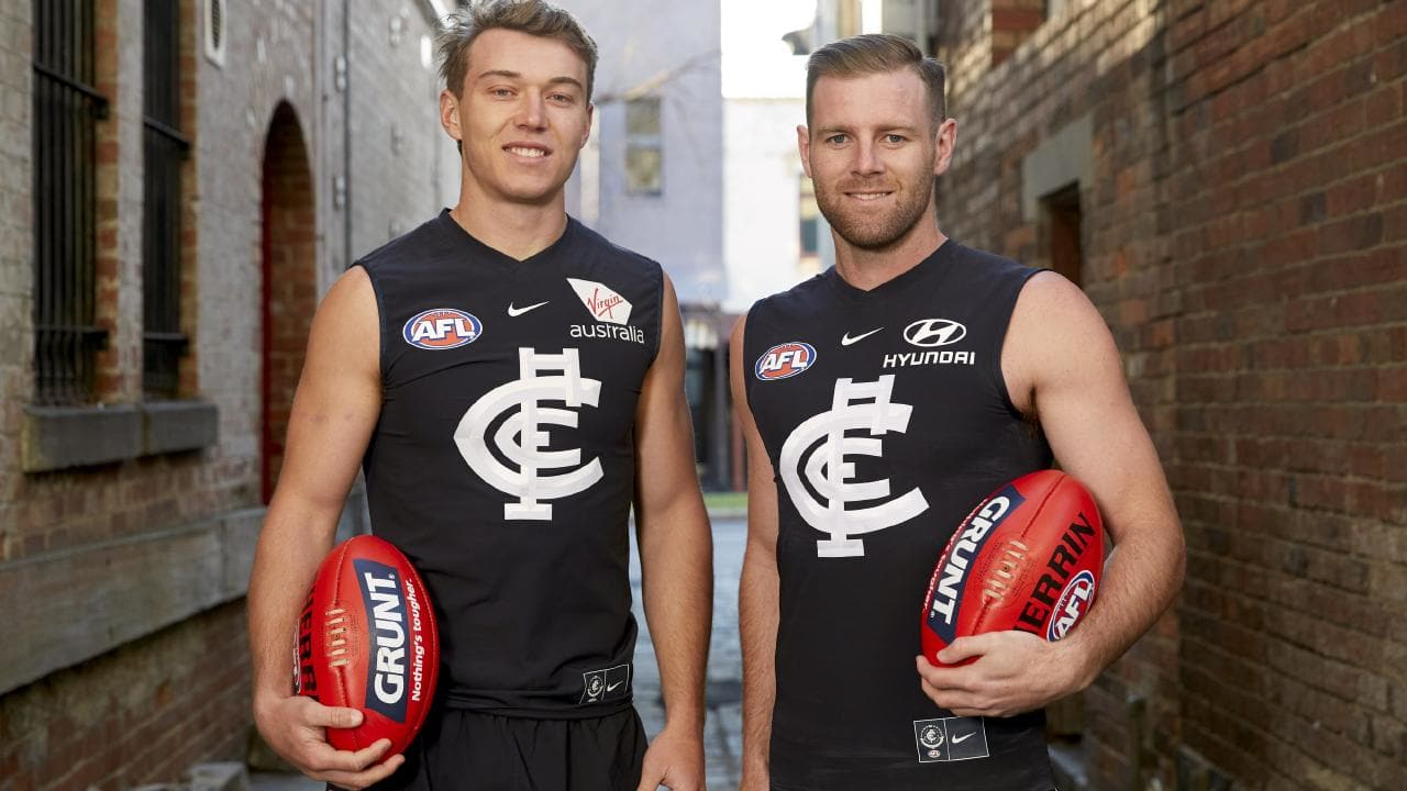 Patrick Cripps and Sam Docherty will be joint Carlton captains in 2019.