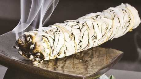 White sage wrapped into a smudge stick helps clear the house of misguided energies.