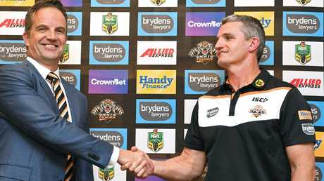 Justin Pascoe and Ivan Cleary have been mates going back years. Picture: AAP