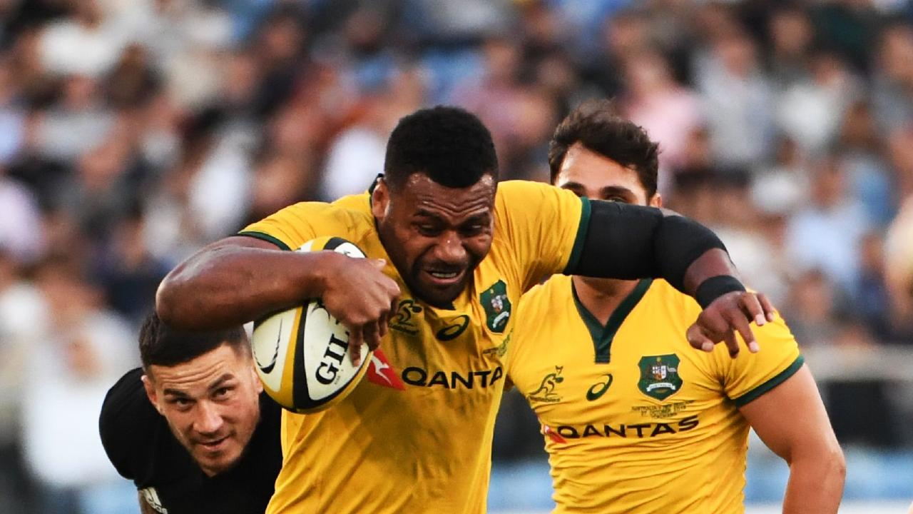 Samu Kerevi starred on return for the Wallabies. (Photo by Toshifumi KITAMURA / AFP)