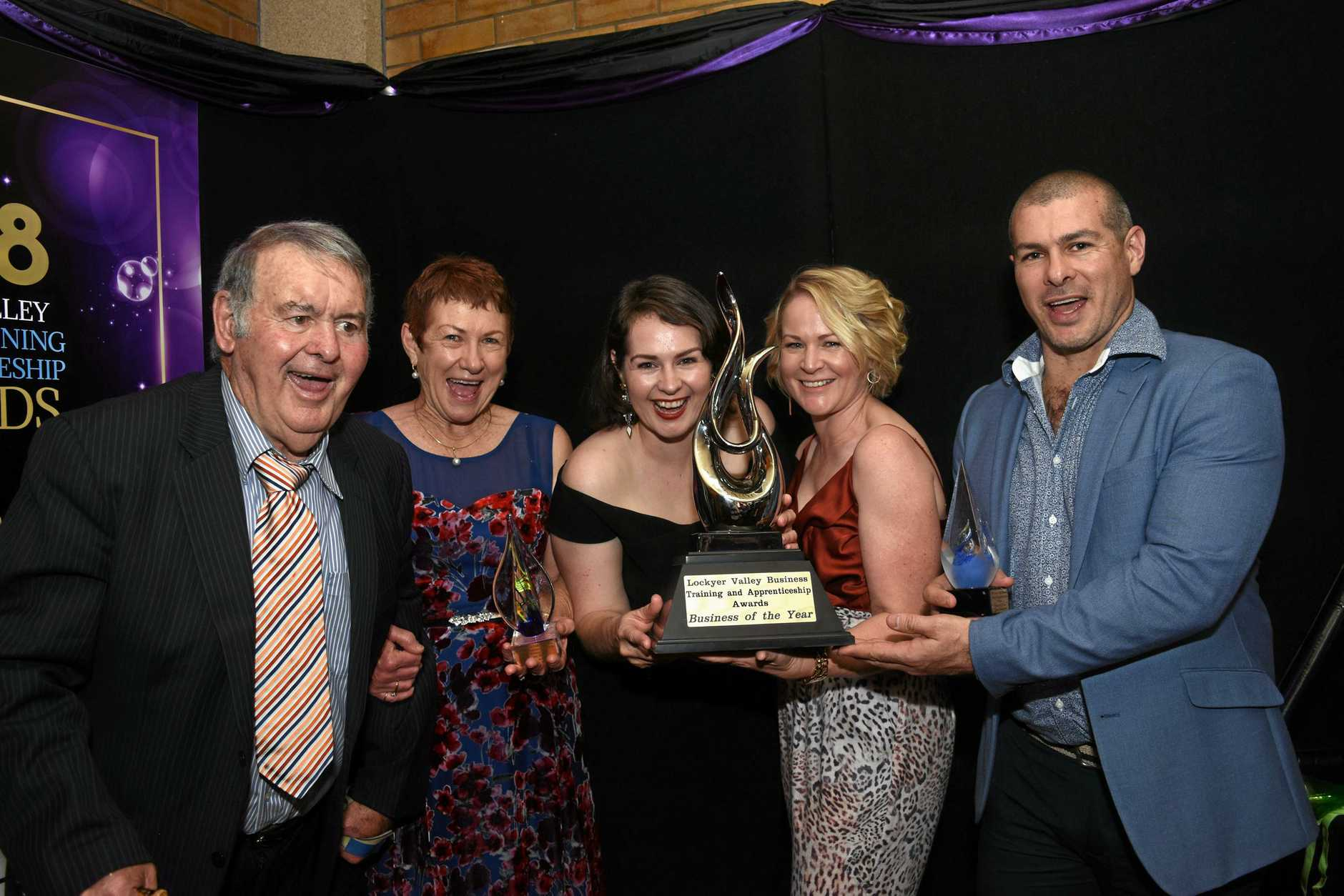 Porters Plainland Hotel has been named Lockyer Valley Business of the Year at the 2018 Lockyer Valley Business, Training and Apprenticeship Awards, Saturday, October 20, 2018.