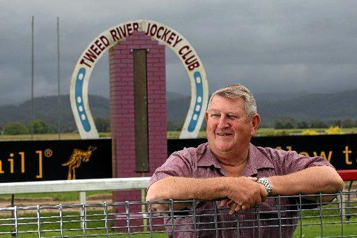 Bernie Quinn at his beloved Tweed River Jockey Club which he has presided over for 43 years. Photo John Gass / Tweed Daily News.