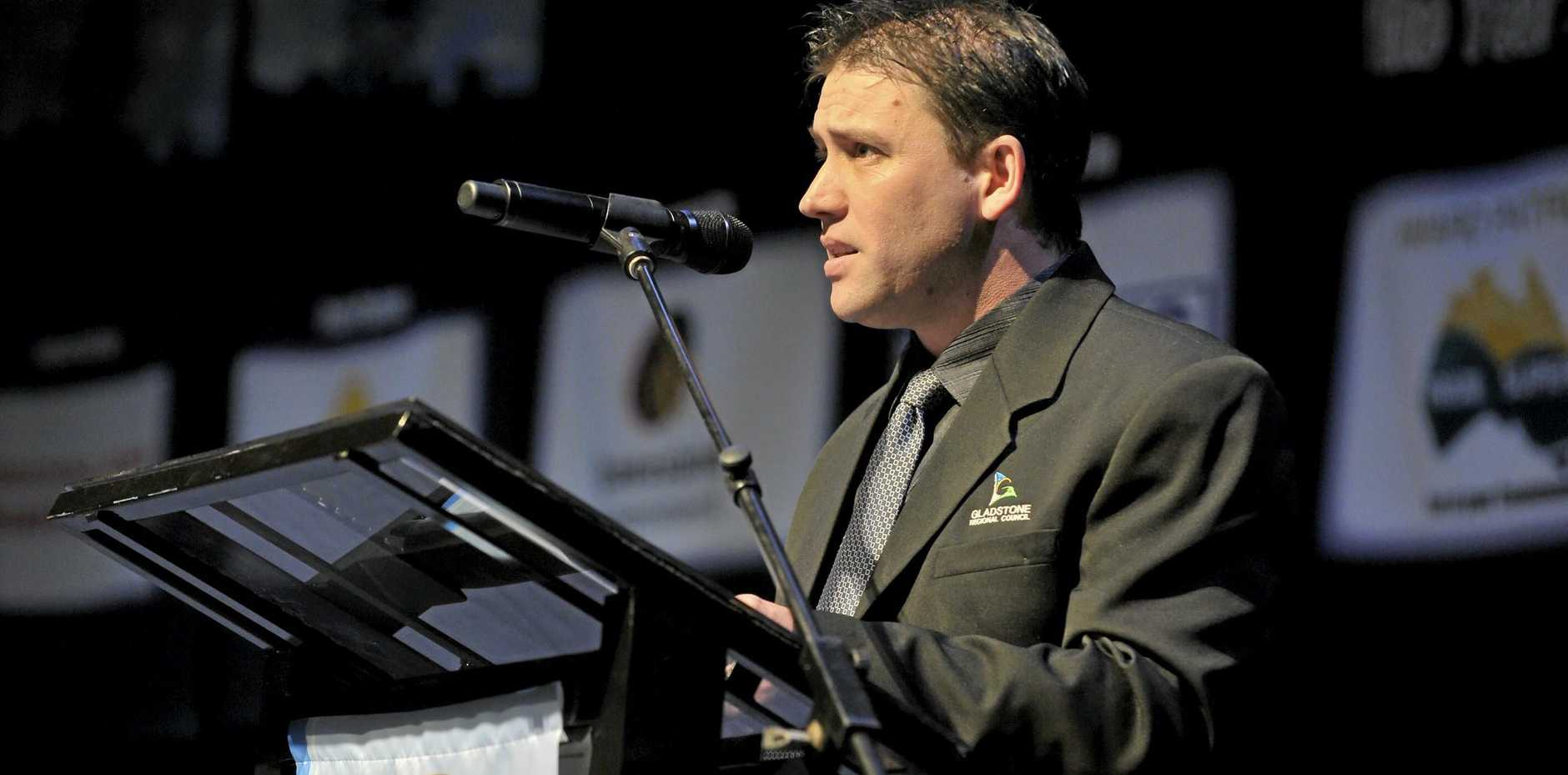 Cr Matt Burnett at a past Regional Achievement & Community Awards launch at the Gladstone Entertainment Centre.