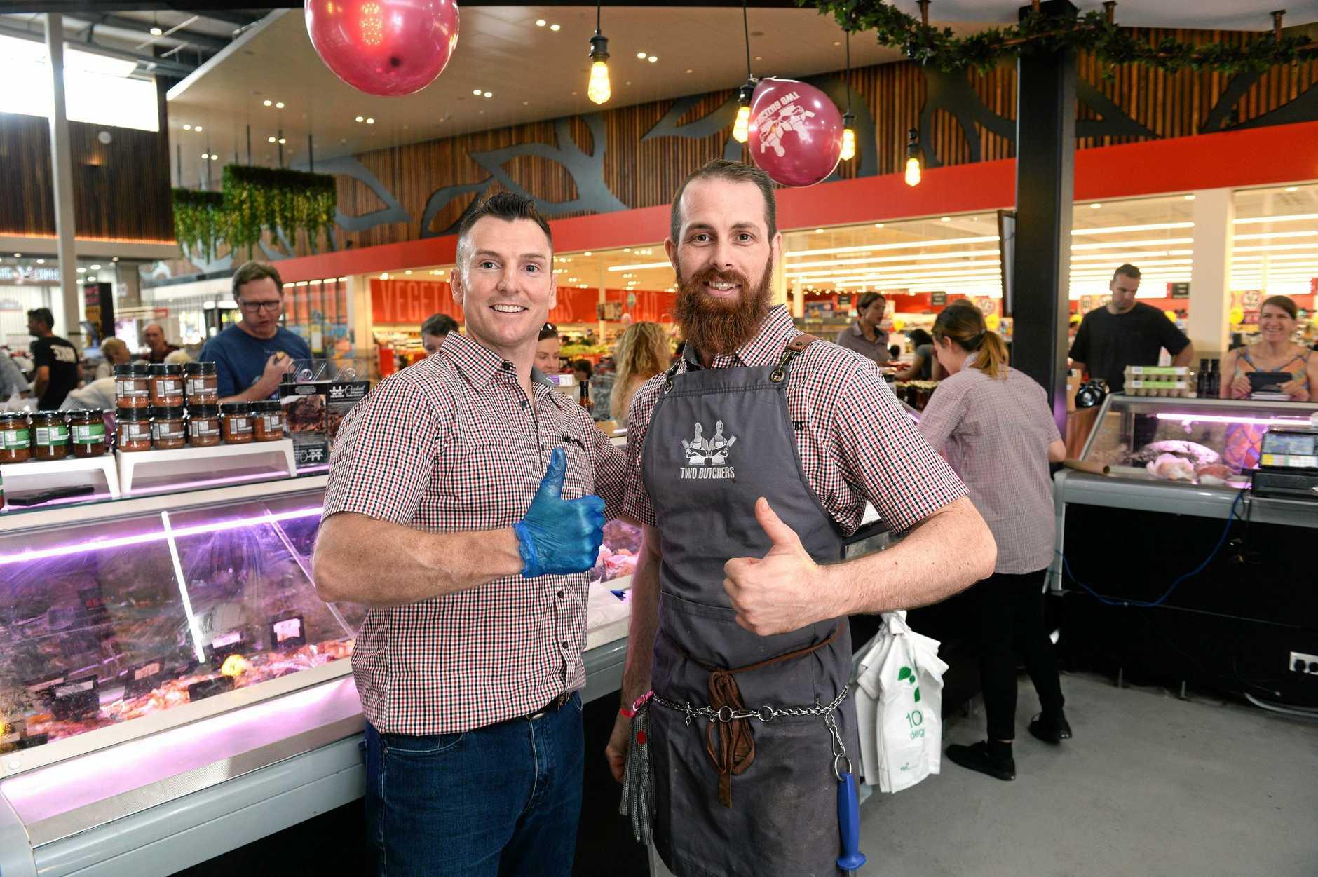 MEATY: Steve McMeniman and Ken Kearney have won an Australian Meat Industry Council award for innovative retailing.