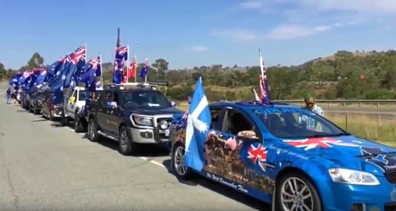Images from the 2018 Australia Day Convoy.