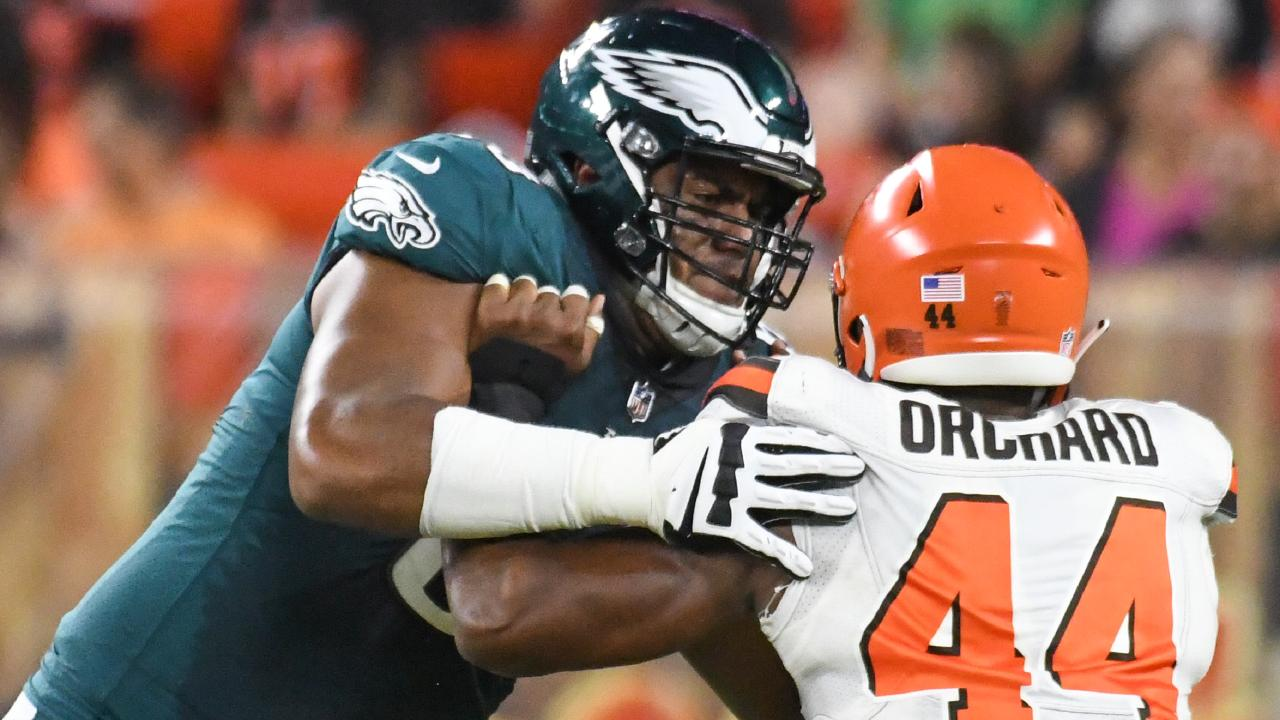 Jordan Mailata says learning the complexities of his position is 'just nuts'.