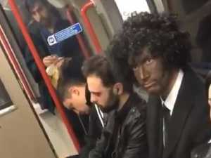 RUSH HOUR: Blackface bloke's stunning reaction