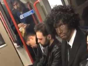 RUSH HOUR: Blackface bloke's stunning reaction