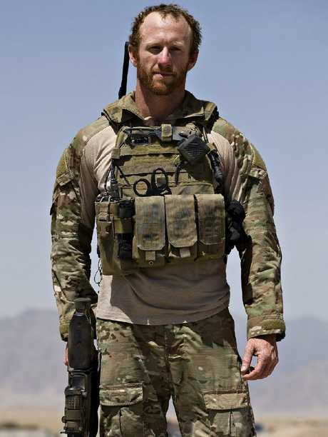 SAS trooper Mark Donaldson of Special Operations Task Group at Camp Russell on MOB Davis, Tarin Kowt.