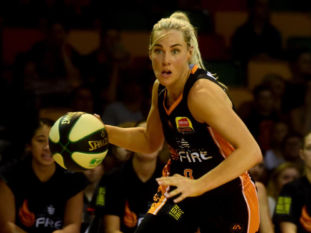 Townsville Fire against Sydney Flames at Townsville Stadium. Fire's Tess Madgen. Picture: Evan Morgan