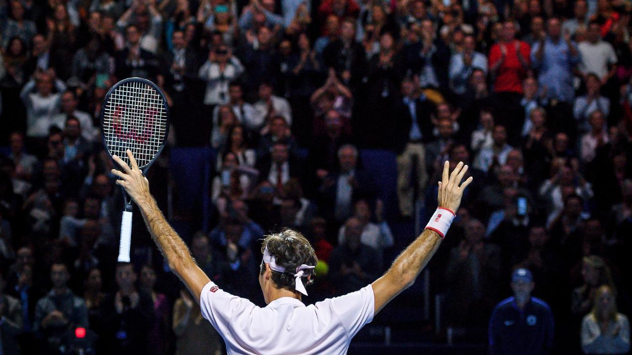 The irrepressible Roger Federer was dominant in the Basel final.
