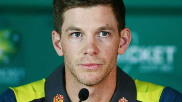 MELBOURNE, AUSTRALIA - OCTOBER 29: Australian Test Captain Tim Paine presents the player review during a Cricket Australia press conference following the commissioned review into the incidents that occurred earlier this year in South Africa at Melbourne Cricket Ground on October 29, 2018 in Melbourne, Australia. (Photo by Michael Dodge/Getty Images)