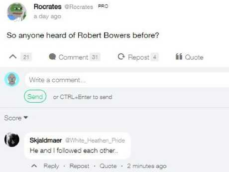 Users on the social media site reacting to the shooting.