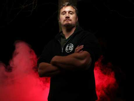 Commando Chad Elliott was diagnosed with PTSD after being shot in Afghanistan. Picture: Gary Ramage