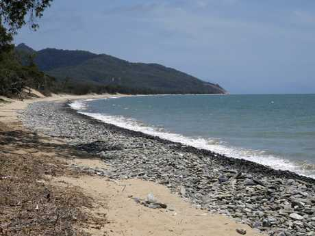 A deserted Wangetti Beach where Toyah Cordingley was murdered. Picture: Anna Rogers