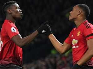 United relief as Pogba, Martial goals see off Everton