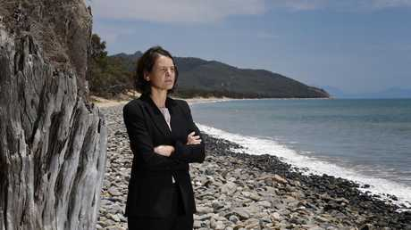 Detective Inspector Sonia Smith on Wangetti Beach where Toyah Cordingley was murdered. PICTURE: ANNA ROGERS