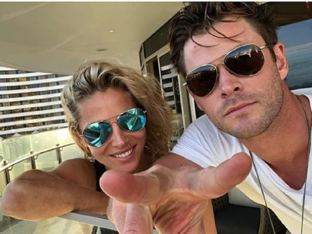 Elsa Pataky and Chris Hemsworth during their stay at The Darling, The Star's new luxury boutique hotel. Photo Instagram @elsapatakyconfidential