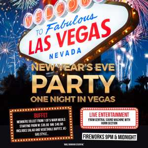 New Year's Eve will soon be here and City Golf Club will be celebrating it in style, featuring a themed One Night in Vegas event, Central Sound Machine & more!