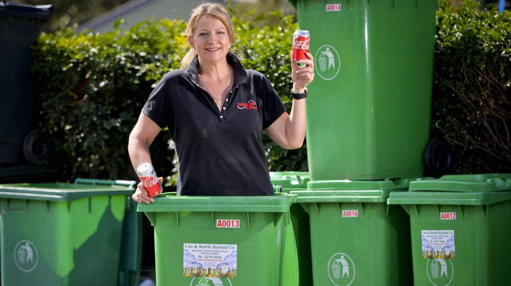 The Big Red Shed sales manager Jane Wilson. The business is among container recycling drop off points.