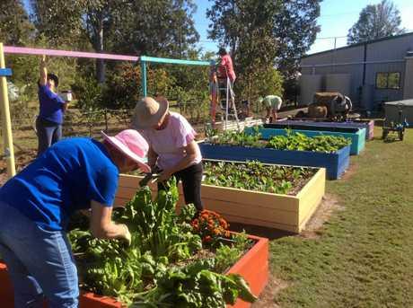 LEFT: Members in the garden.