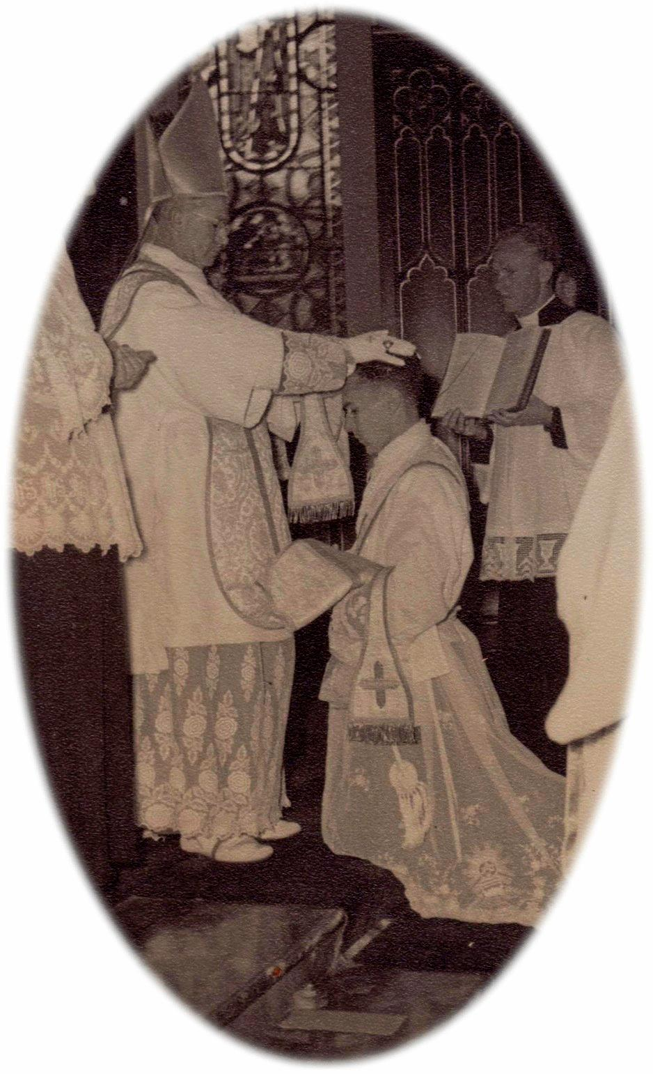 Fr Pidcock's Ordination at St Patrick's, Church Hill in Sydney in 1956