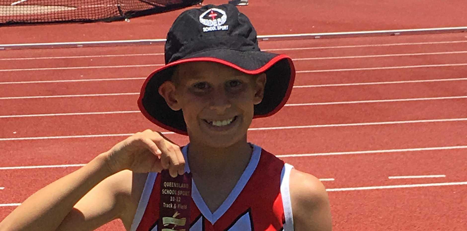 TOP EFFORT: Cooper Weil had great results at the Queensland school sport championships.