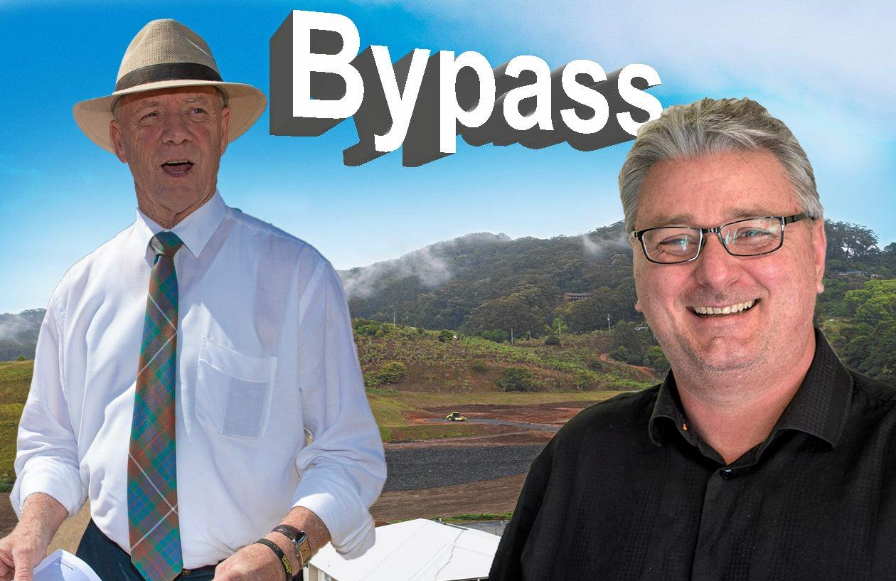BYPASS BANTER: State member for Coffs Harbour Andrew Fraser and federal Labor candidate for Cowper Andrew Woodward.